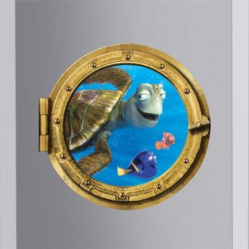 Find Dory Nemo Sea Turtle Sealife Fish Wall Decals for Kids Room Decor Diy 3d Window Wall Stickers Art Removable