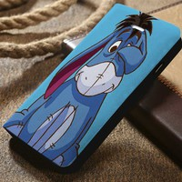 Disney Eeyore Winnie The Pooh Custom Wallet iPhone 4/4s 5 5s 5c 6 6plus 7 and Samsung Galaxy s3 s4 s5 s6 s7 case