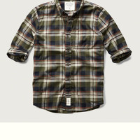 Muscle Fit Plaid Shirt