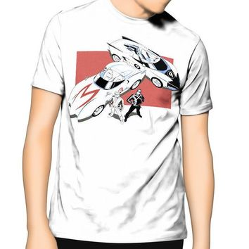 Anime T-shirt graphics Speed Racer with Racer X Anime Manga S-6XL Tall Sizes T Shirt Casual Plus Size T-Shirts Hip Hop Style Tops Tee S-3Xl 2018 Newest AT_56_4
