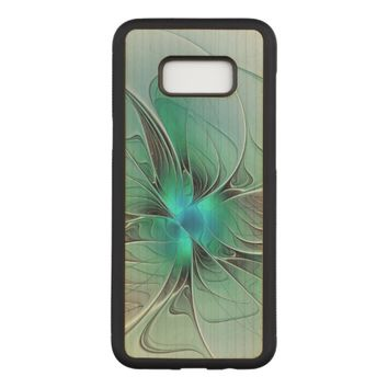 Abstract With Blue, Modern Fractal Art Carved Samsung Galaxy S8+ Case
