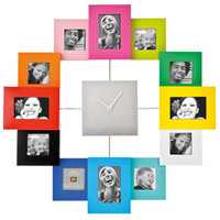 Cluster Photo Frame Wall Clock