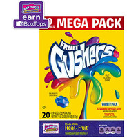 Walmart: Betty Crocker Fruit Gushers Strawberry Splash/Tropical Fruit Flavored Snacks Variety Pack, 0.9 oz, 20 count