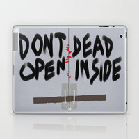 Don't Open Dead Inside, Walking Dead  Laptop & iPad Skin by Apricot | Society6