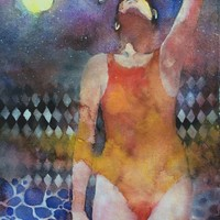 """""""Swimmer"""" - Art Print by Alessandro Andreuccetti"""