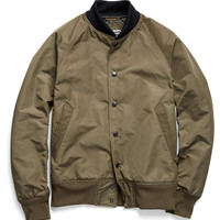 Mighty Mac Nylon Tennis Bomber in Olive