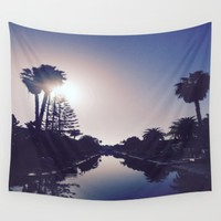 Venice Canals By Sunset Wall Tapestry by Love Lunch Liftoff