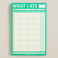 Large What I Ate Sticky Note Pad - World Market