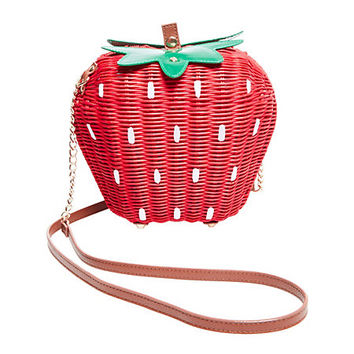 KITSCH BERRY NICE STRAWBERRY CROSSBODY: Betsey Johnson