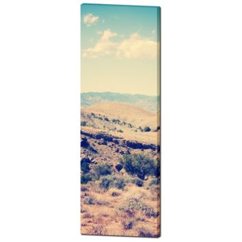Southwest Canvas - Southwest Landscape - Southwest Home Decor - Tall Canvas - Tan and Blue - Vintage Style - Large Canvas - 20 x 60 Canvas