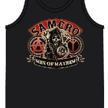 Sons of Anarchy SAMCRO Red Men of Mayhem Black Adult Tank Top - Sons of Anarchy - | TV Store Online
