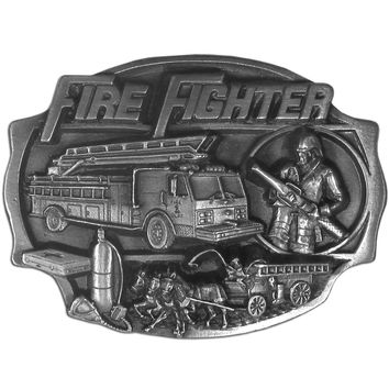 Sports Accessories - Fire Fighter  Antiqued Belt Buckle