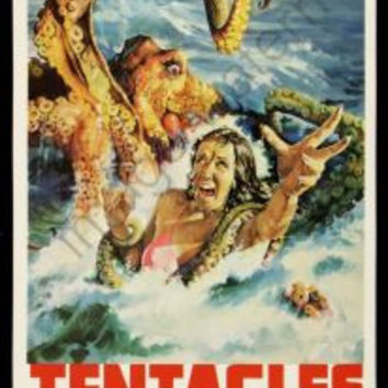 Tentacles Movie Poster Insert 14x36