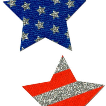 Glitter Stars and Stripes Pasties