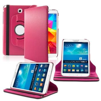 Samsung Galaxy Tab A 9.7 / T550 360 Rotating Leather Cover Pink