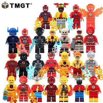 TMGT Single Sale Figure Reverse Flash Punisher Female Captain America Super Hero Building Blocks Toys Gifts For Children Friends