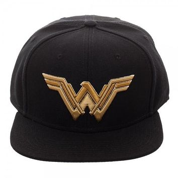 Core Line Wonder Woman Icon Embroidered Snapback Hat