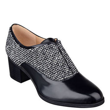 Isaac Mizrahi New York Darcy 2 Tweed and Leather Oxfords
