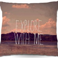 Artistic Couch Pillow | Rachel Burbee | Explore With Me II | Dianoche Designs