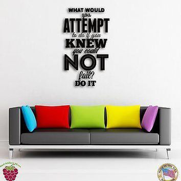 Wall Sticker Quotes Words Inspire Message What Would You Attempt To Do  Unique Gift z1486