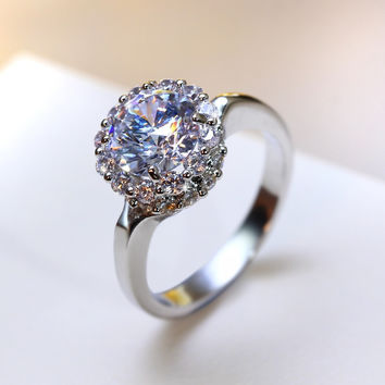Best Petite Wedding Jewelry Propose rings Women Cubic Zirconia stones AAA Quality Classic Thin Wedding Band Engagement ring
