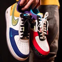"""Nike Air Force 1 Low """"What The NYC"""" Limited Edition Wild Sneakers Shoes"""