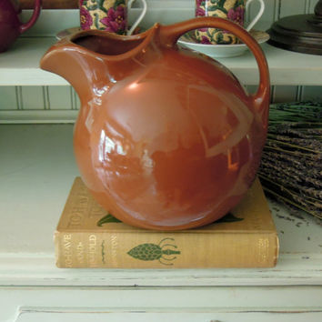 Vintage Hall Ceramic Pottery Brown Jug / Water Bottle / Carafe / Brown Pitcher / Hall Pitcher 633