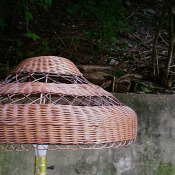 Antique Wicker Boho Victorian Lamp Shade