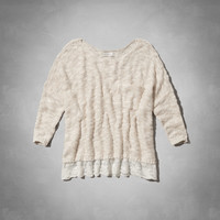 SHANNON LACE HEM SWEATER