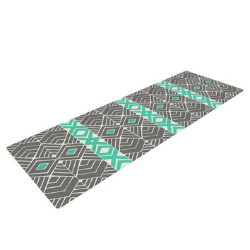 "Pom Graphic Design ""Going Tribal"" Gray Green Yoga Mat"