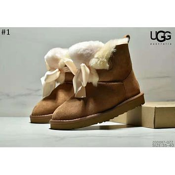 UGG winter 2018 new bow ribbon female models anti-skiing boots #1