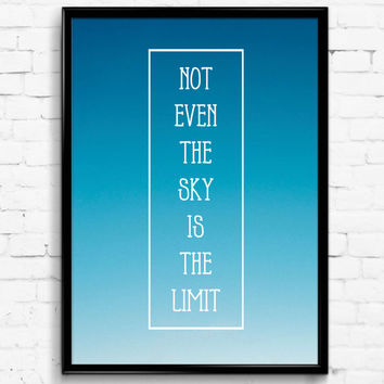 Not Even The Sky Is The Limit Photo Wall Print, Digital Download Decor, Retro Digital Art, Printable Nature Wall Art