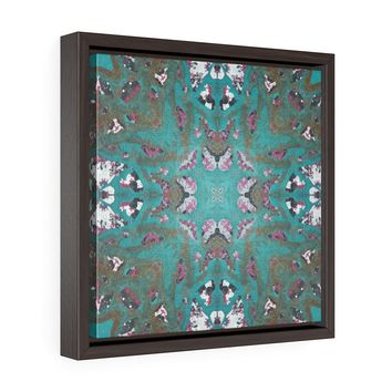 Teal Painting Framed Premium Gallery Wrap Canvas