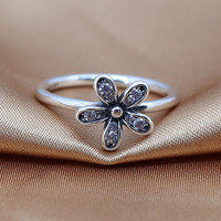 Retro Daisy series 925 Sterling Silver rings Compatible With Fit for Original PDR Engagement Brand women Jewelry gifts