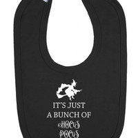 It's All A Bunch Of Hocus Pocus Witch Magic Spell Baby Halloween Velcro Bib