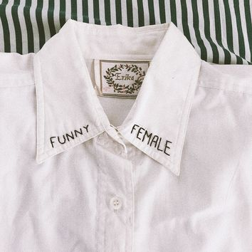 Funny Female Button Up