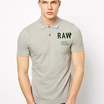 G Star Polo Shirt with Raw Logo