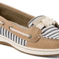 Sperry Top-Sider Cherubfish Mariner Stripe Slip-On Boat Shoe Linen, Size 5.5M  Women's Shoes