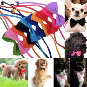 Fashion Dog Cat Pet Puppy Toy Kid Cute Bow Tie Necktie Collar Clothes = 1929576836