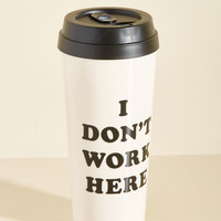 Get a Quirk Fix Travel Mug in Employment | Mod Retro Vintage Kitchen | ModCloth.com