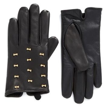 Ted Baker London Micro Bow Leather Glove | Nordstrom