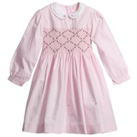 Pink Cotton Hand Smocked Dress