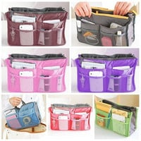 Large Dual Organizer Cosmetic Book Storage Bag Handbag Women Make Up Bag [10198253383]