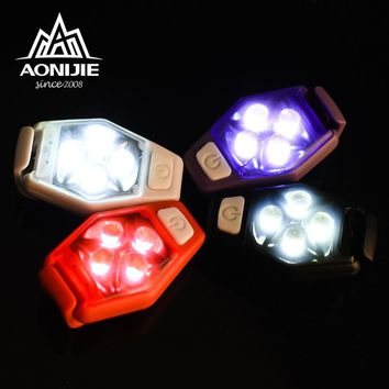 AONIJIE 4077 IPX4 Waterproof Night Running LED Safety Light With Clip Strobe Lamp For Runner Jogger Dog Collar Bicycle Rider