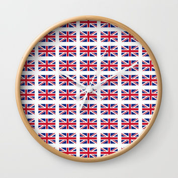flag of uk 3 - London,united kingdom,england,english,british,great britain,Glasgow,scotland,wales Wall Clock by oldking