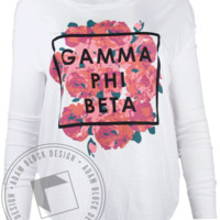 Gamma Phi Beta Flowers Longsleeve Shirt - Adam Block Design