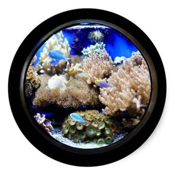 Saltwater aquarium sticker