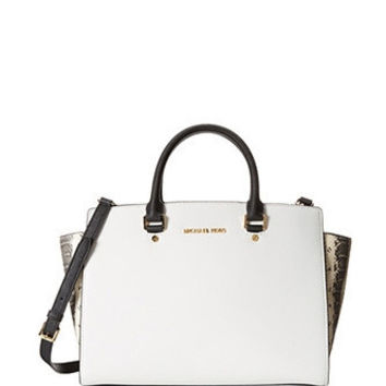Michael Michael Kors Large Selma Satchel in Snake Colorblock
