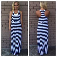 Captain Stripes Maxi Dress