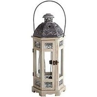 Product Details - White Wooden Hanging Tealight Lantern